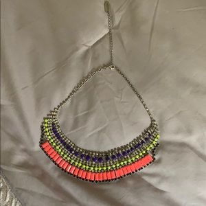 Choker with colorful beads